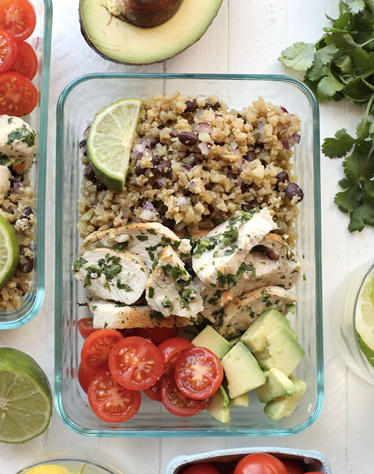 cilantro lime chicken with cauliflower rice recipe