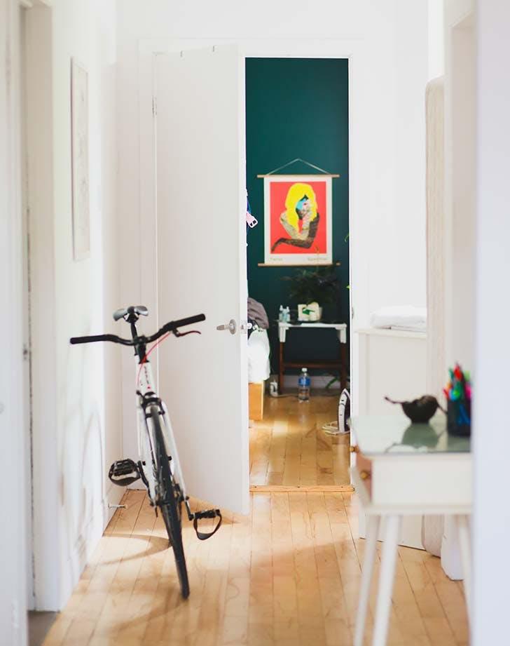 clean bright hallway