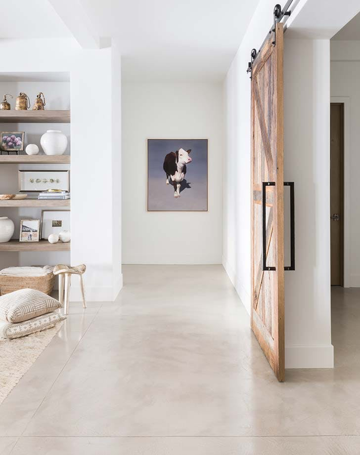 concrete hallway modern