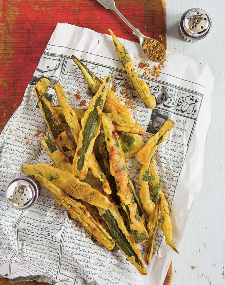 crispy chickpea batter okra recipe