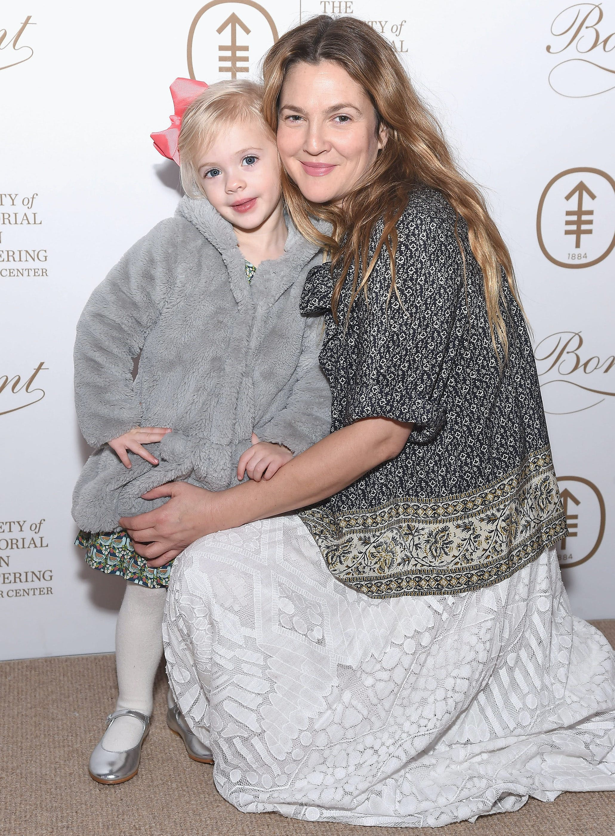 drew barrymore with her daughter frankie