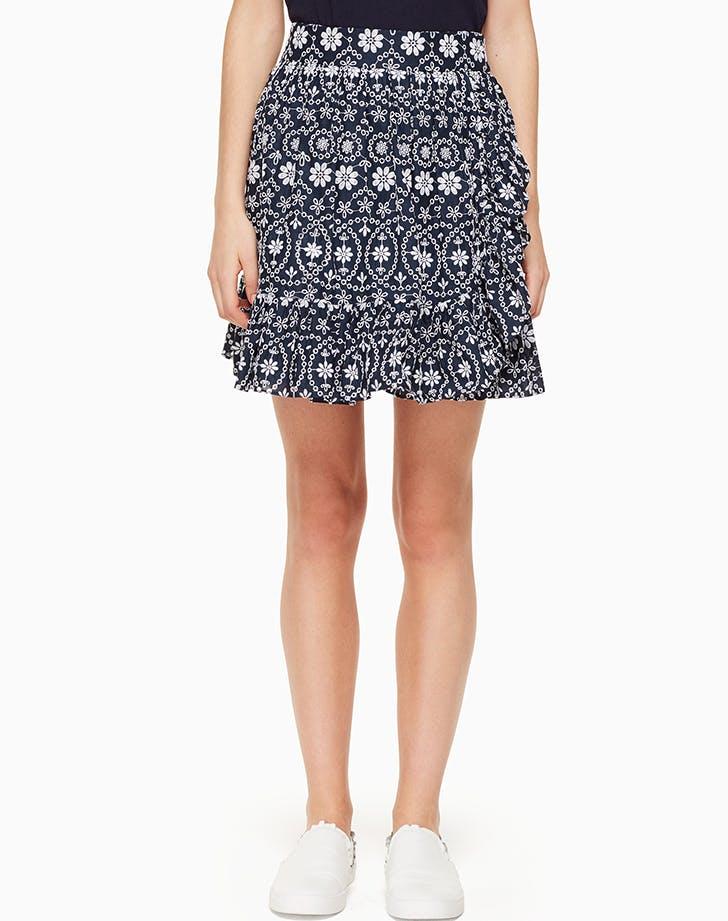 eyelet wrap skirt