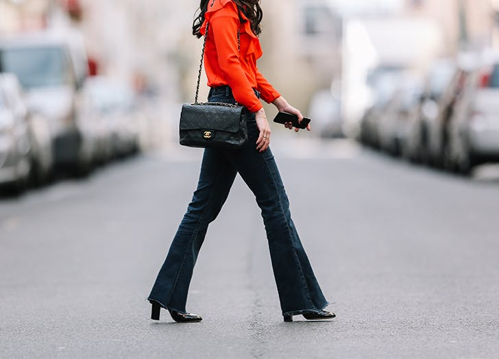 flare jeans ankle boots