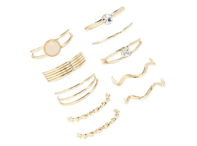 forever 21 set of 10 stacking rings