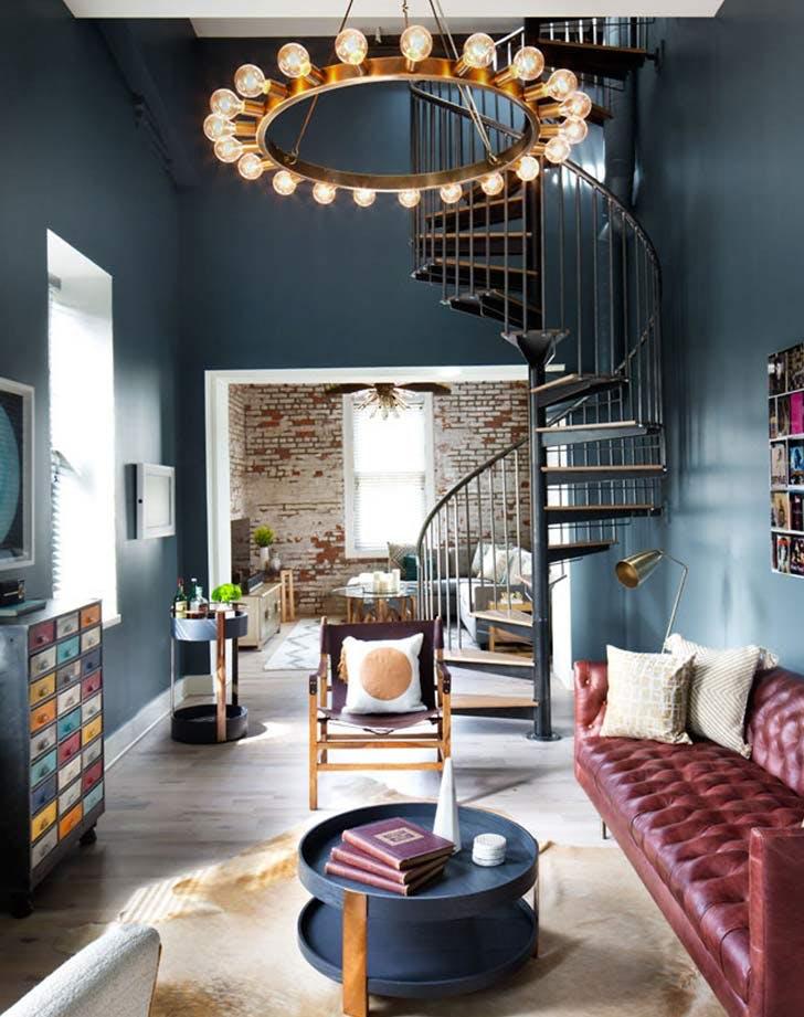 gabriela living room staircase