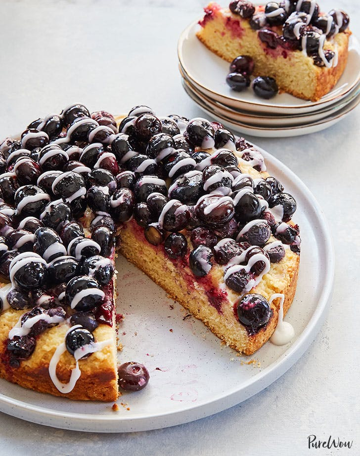 Glazed Blueberry Cake