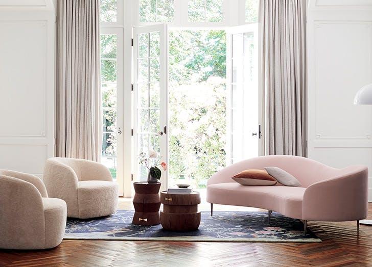 goop cb2 curvo sofa