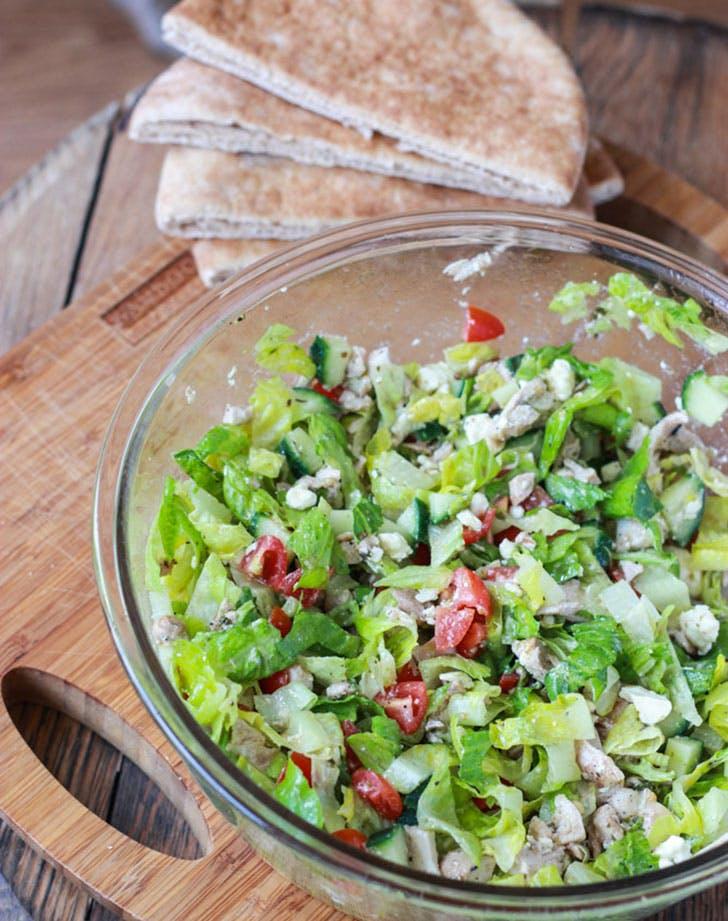 greek salad stuffed pita pockets recipe