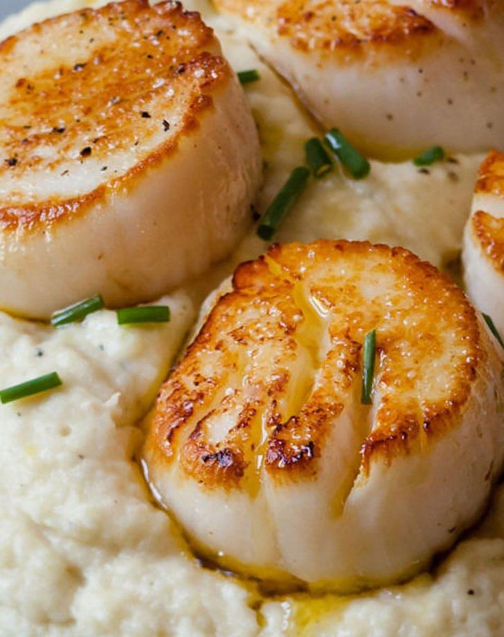 ina garten seared scallops potato celery root puree recip