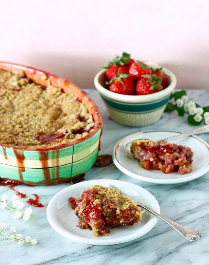 ina garten strawberry rhubarb crisp recipe