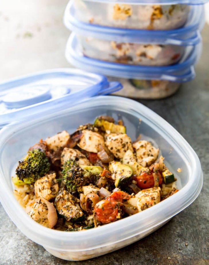 italian chicken meal prep bowls recipe