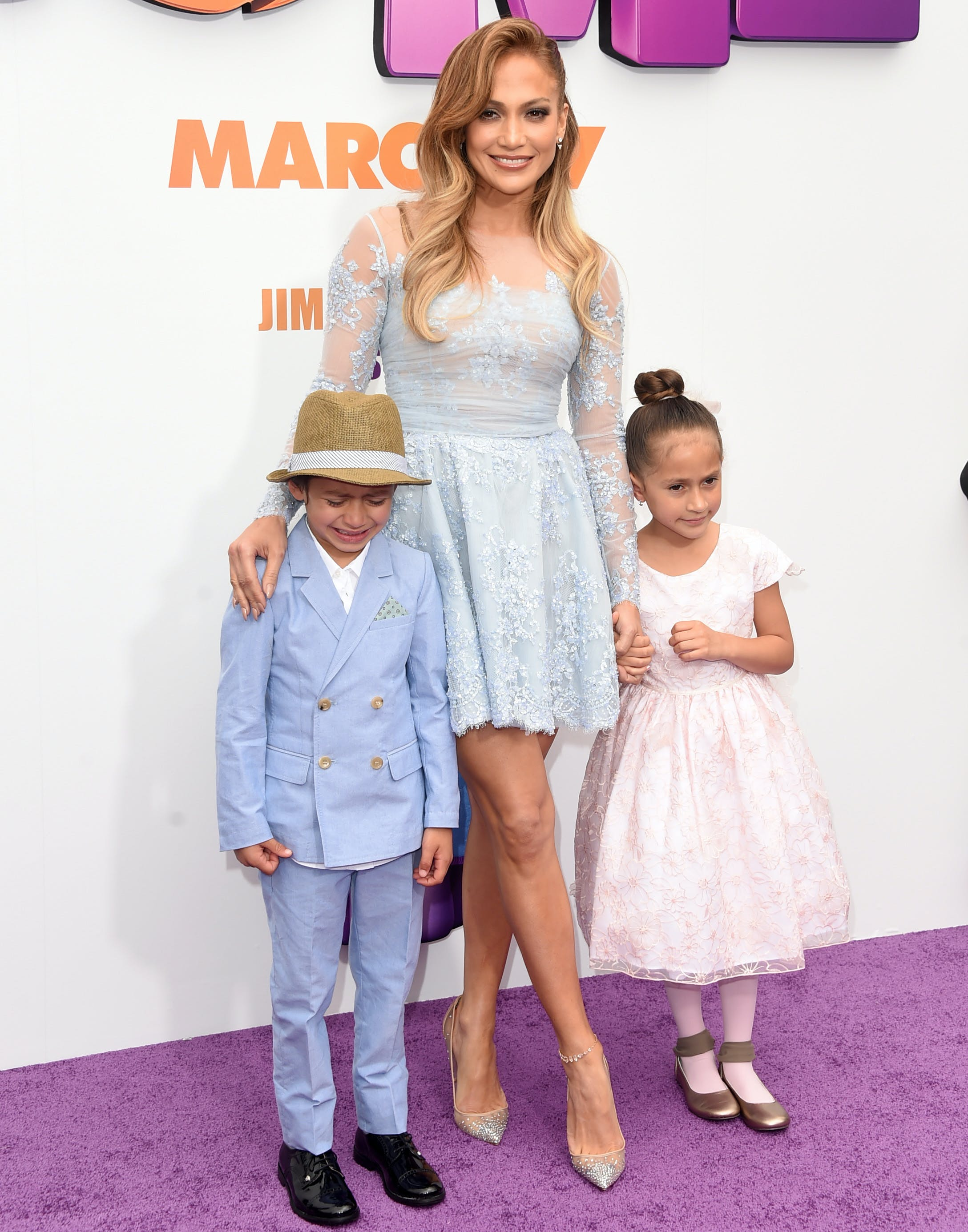 jennifer lopez and her twin children