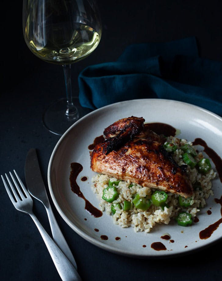 jerk chicken and okra rice recipe