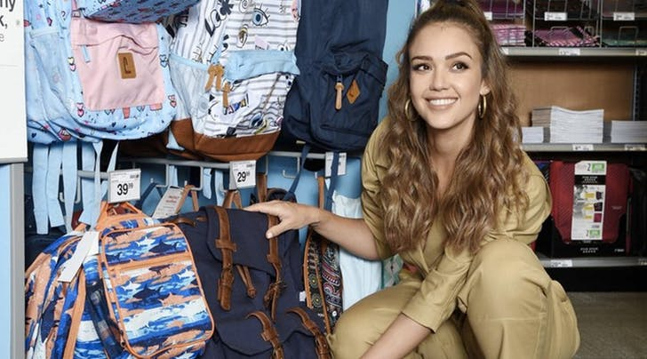 6143fbc1ed1 Jessica Alba Goes Back-to-School Shopping for Charity - PureWow