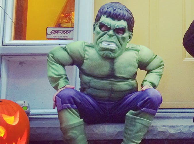 kid hulk costume pumpkin