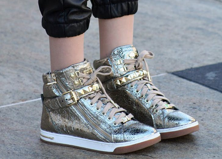 kids metallic shoes