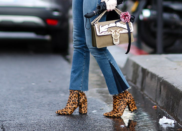 leopard ankle boots jeans