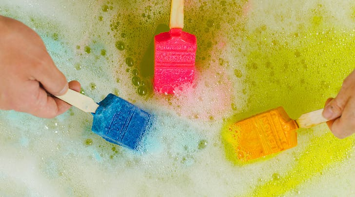 Lush Just Launched Paintbrush Bath Bombs That Make Bath Time a Work of Art
