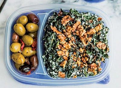 meal prep creamy kale caesar salad recipe 290