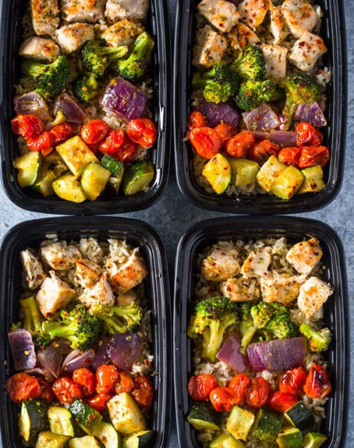 meal prep healthy roasted chicken veggies recipe
