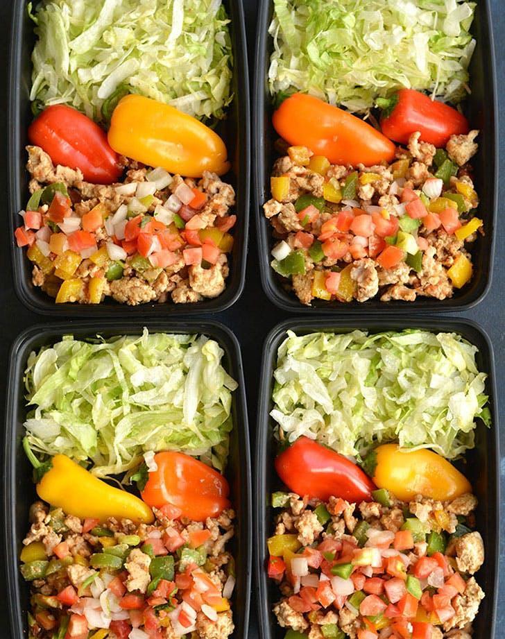meal prep turkey taco bowls recipe