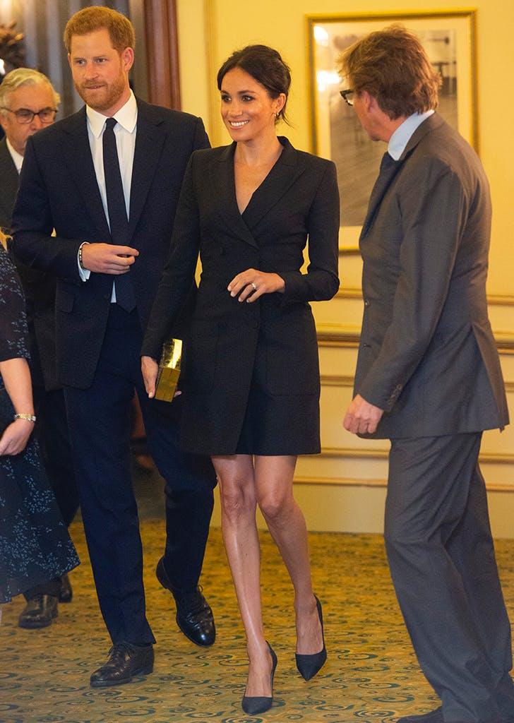 meghan markle hamilton black dress