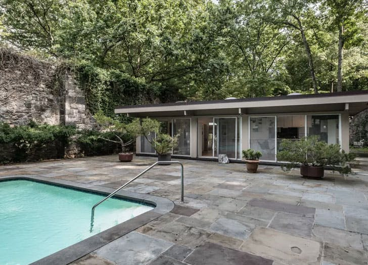 midcentury modern adobe pool
