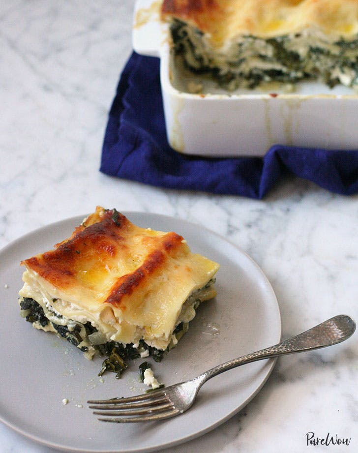mixed greens lasagna recipe