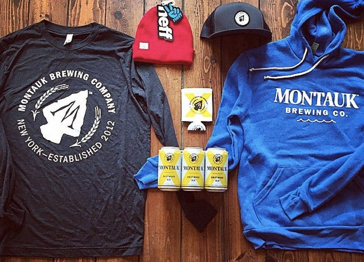 montauk brewing company sweatshirt beer hats