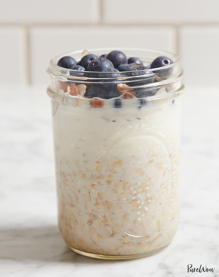 overnight oats with blueberries and almonds recipe