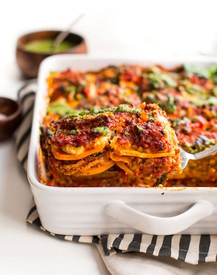 paleo sweet potato lasagna almond ricotta recipe