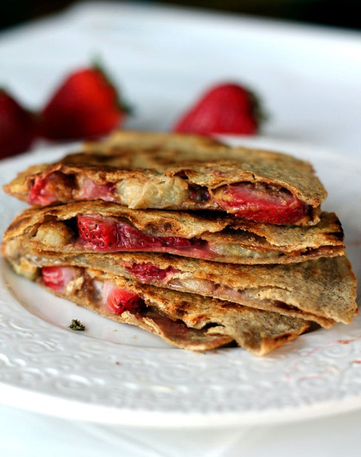 peanut butter strawberry banana quesadillas recipe