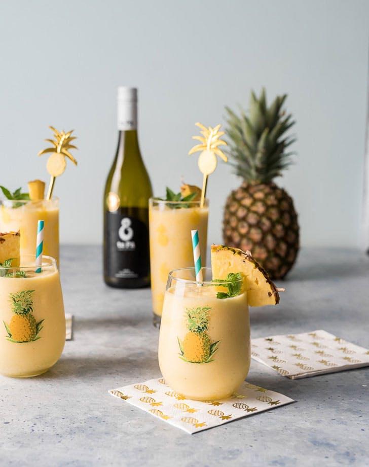 pineapple white wine slushies recipe