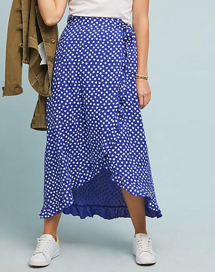 polka dot wrap skirt