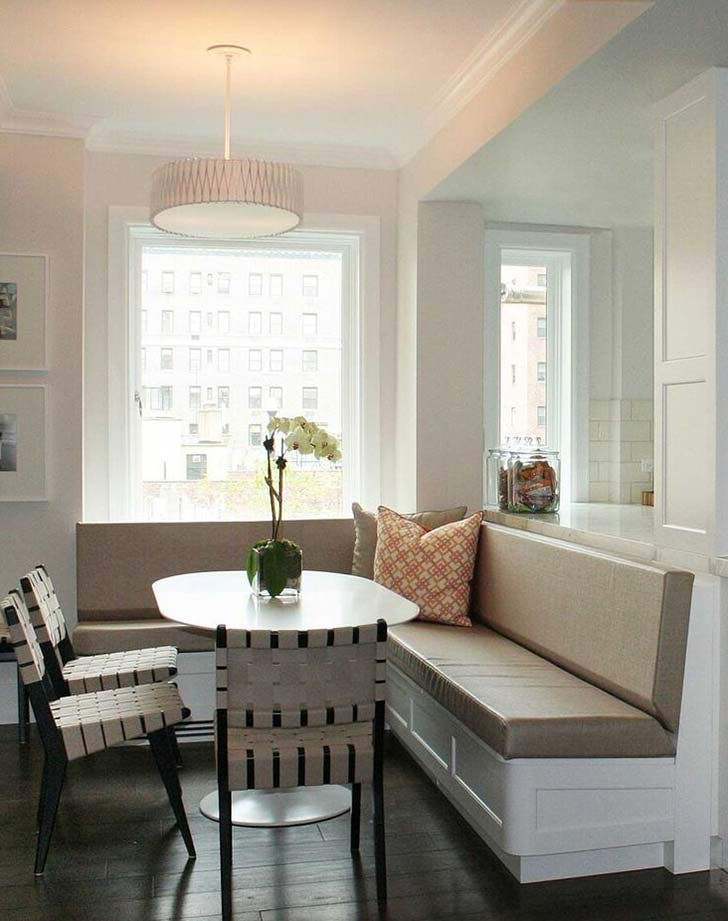 pony wall banquette