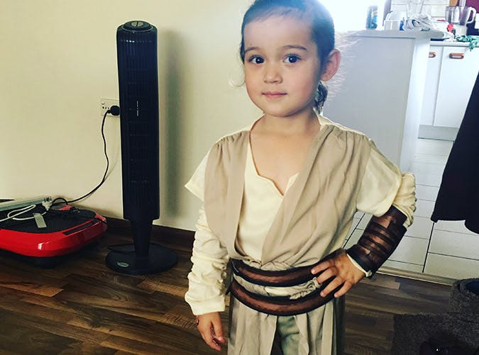 rey star wars kid costume