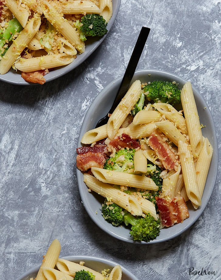 roasted broccoli bacon pasta salad recipe