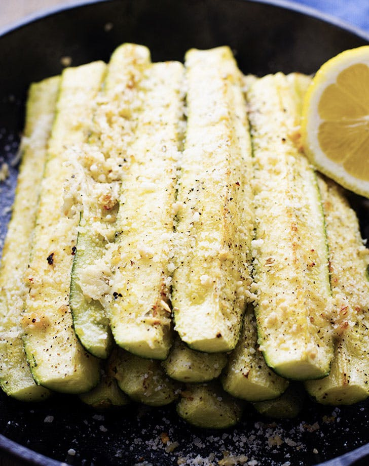 roasted parmesan garlic zucchini recipe