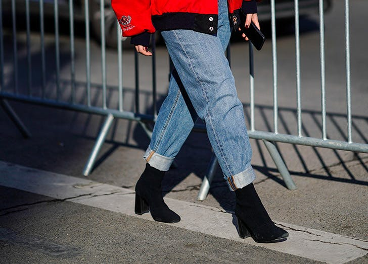 rolled up boyfriend jeans ankle boots
