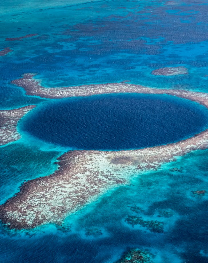 snorkeling at the Great Blue Hole in Belize
