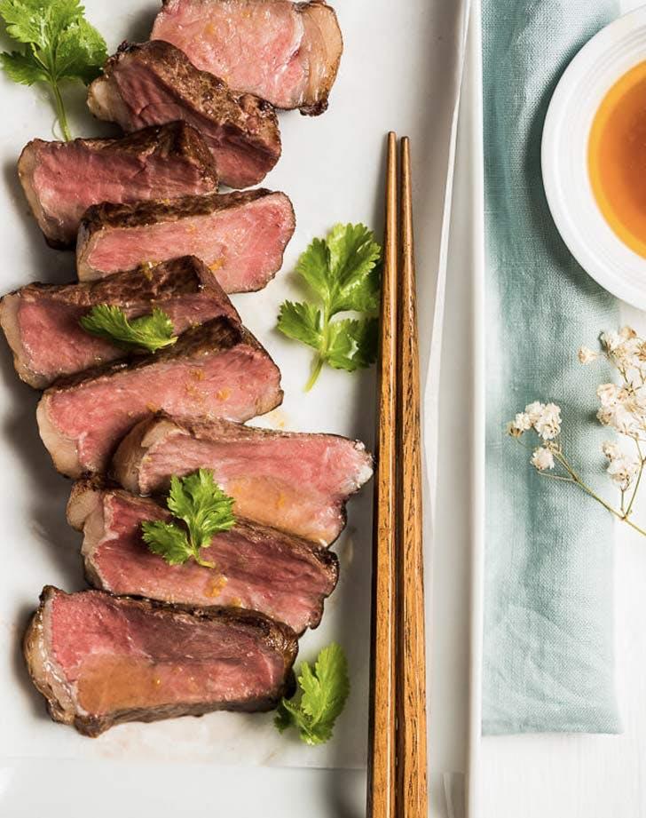 sous vide steak sashimi