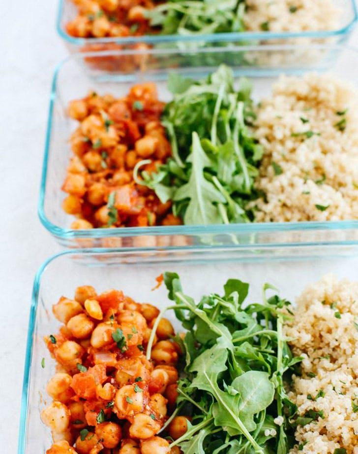 spicy chickpea quinoa bowls recipe