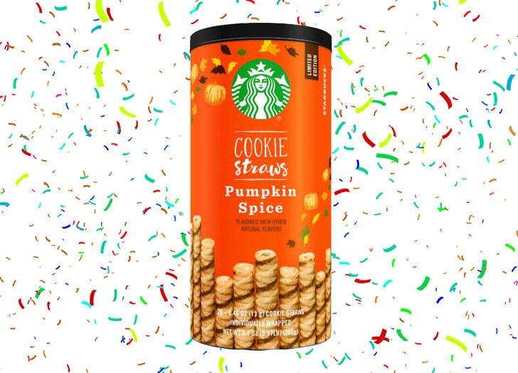 starbucks pumkin spice cookie straws