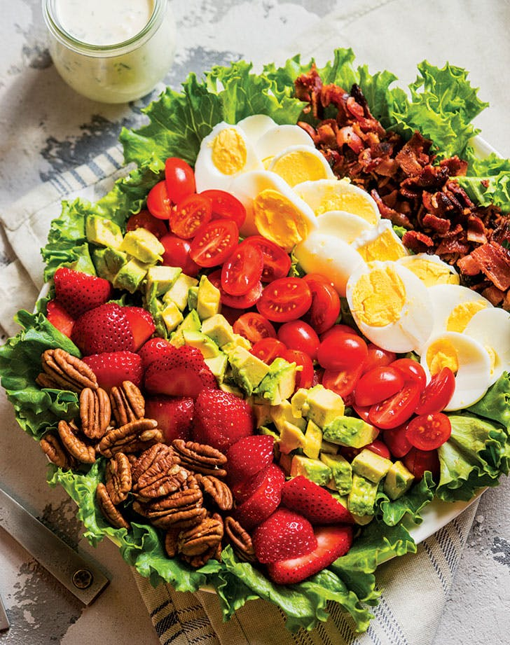Strawberry Cobb Salad with Dairy-Free Ranch Dressing