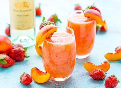 strawberry peach wine slushies recipe 290