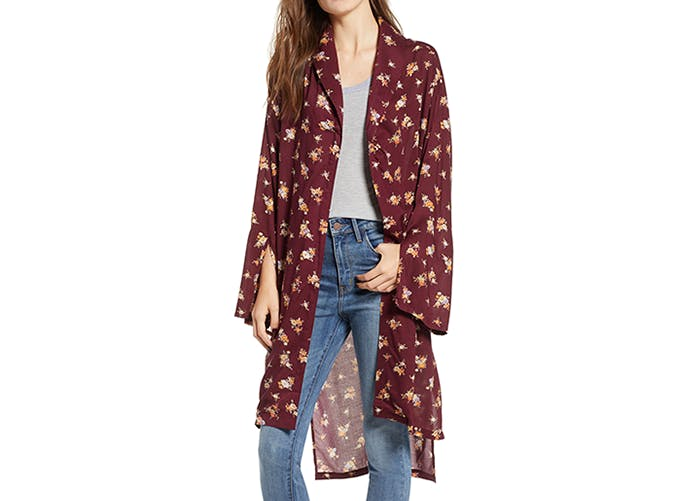 treasure and bond floral kimono duster
