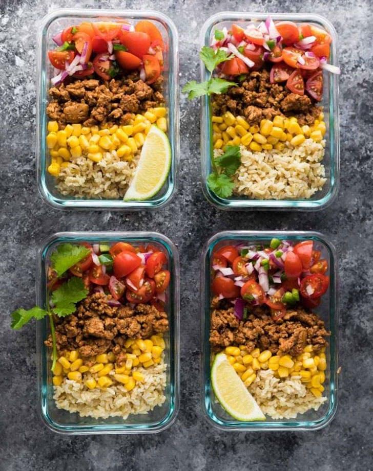 turkey taco lunch bowl recipe