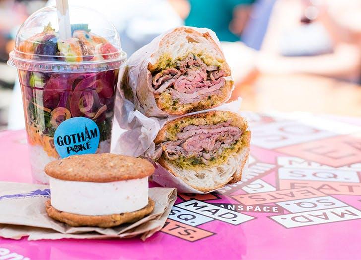 urban space fall pop up sandwich ice cream