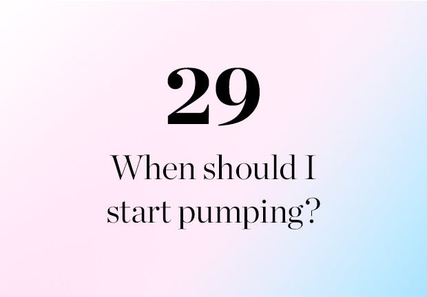 when should I start pumping