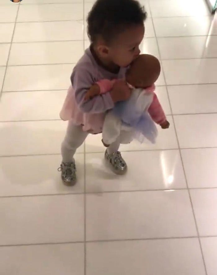 Alexis Olympia cradles doll